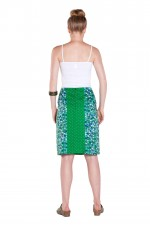 Trish A line Cotton Skirt - Mozaic Print