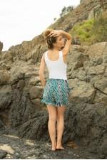 Peta Shorts -Turquoise Eye Print