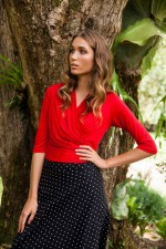 Phyllis  Top - Red Viscose
