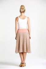 Gita Cotton Voile A line Skirt - Pink Daisy Print