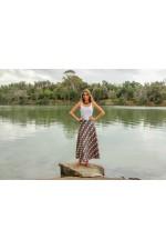 Grace Long Cotton Wrap Skirt - Biba Print