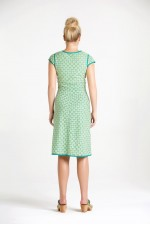 Sophie Dress - Green Daisy Print