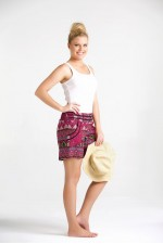 Pippa Shorts - Mountain Pink Print