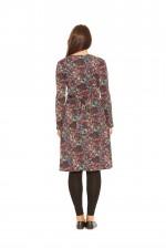 Sunburst  L/S Wrap Dress- Sunburst  Print