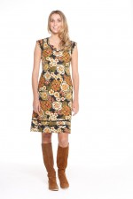 Cassy Cotton Braid Dress - Klimt Print
