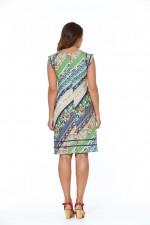Cassy Cotton Braid Dress Palais Print