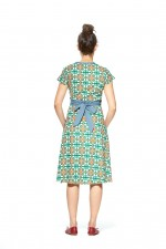 Leela Cotton Wrap Dress - Capri  Print