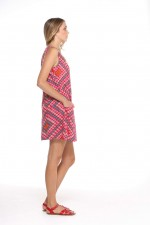 Ellen Tunic Dress - Louvre print mix
