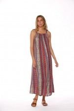 Fifi Strappy Maxi Dress - Angelo Print