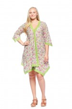 Libby Cotton Voile Poncho - Udaipur Print