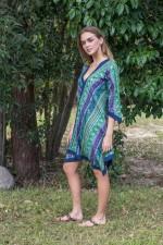 Libby Cotton Voile Poncho - Kota  Print
