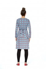Sunburst L/S Wrap Dress - Earth Print