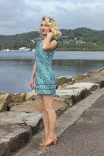 Cassy Cotton Braid Dress- SHORT - Dragonfly Print