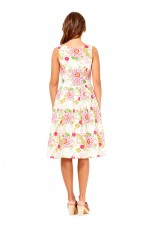 Jude Cotton 50's A Line Dress - Petal Print