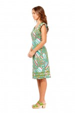 Cassy Cotton Braid Dress Brighton Print