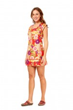 Cassy Cotton Braid Dress - SHORT - Geisha Print