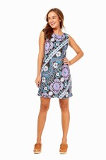 Twiggy  Cotton Shift Dress Quant Print