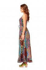 Violet Maxi Dress- Disco Print
