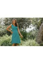 Jaya Cotton  Dress Green Chakra  Print