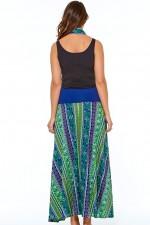 Nicole Long Cotton Voile Skirt - Kota Print