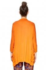Viv Viscose Cardigan - Orange