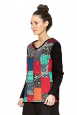 Sen Cotton Top - Patchwork