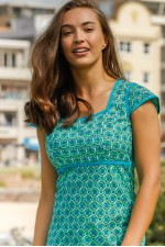 Sophie Dress - Green Chakra Print