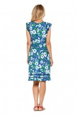 Cassy Cotton Braid Dress - Bouquet Print