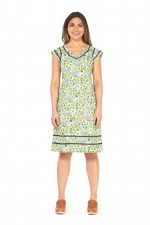 Cassy Cotton Braid Dress - Meadow Print