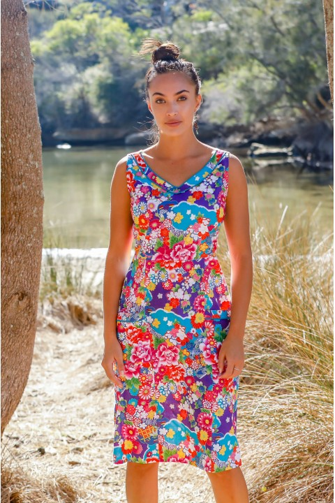 Betty Dress with pockets - Sendai  Print