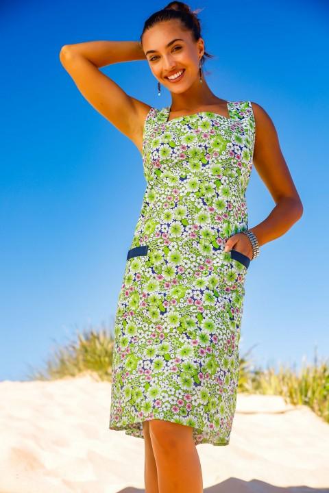 Rosie Cotton  Dress -Meadow Print
