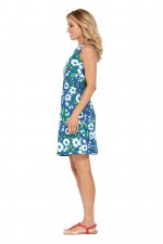 Kayla Cotton Shift Dress - Bouquet Print