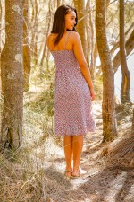 Violetta Cotton  Dress- Blush Print
