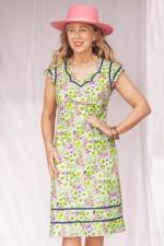 Cassy Cotton Braid Dress - Meadow Print