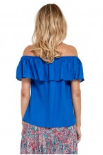 Primo Rayon Top - Cobalt Blue