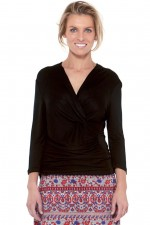 Phyllis Top - Black Viscose