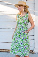 Betty Dress with pockets - Meadow Print