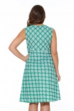 Davina Cotton Braid Dress - Mandir Print