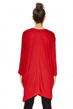 Carmella Batwing Tunic - Red