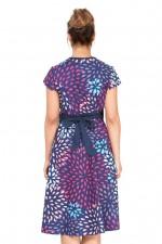 Leela Cotton Wrap Dress - Teardrop Print