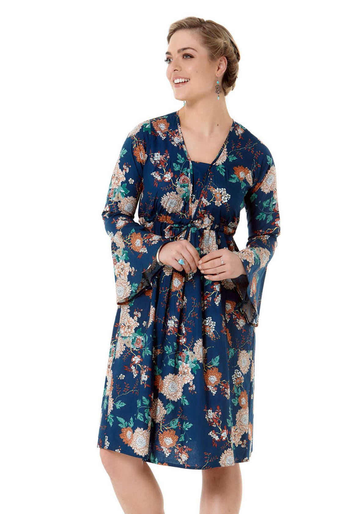 Devi L/S Cotton Tunic - Maya Print