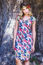 Cassy Cotton Braid Dress - Japanese Meadow Print