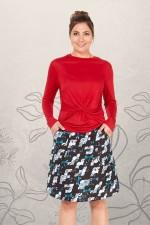 Melissa A-Line Cotton Skirt - Kobe Print