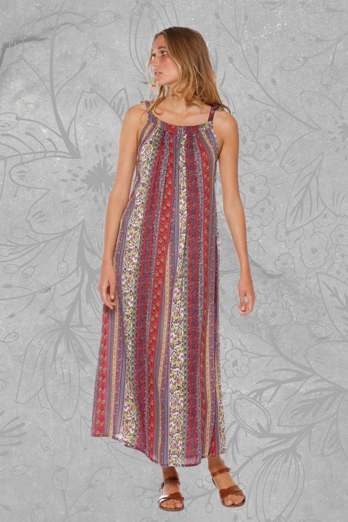 Fifi Strappy Maxi Dress - Angelo Print