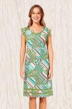 Cassy Cotton Braid Dress - Brighton Print