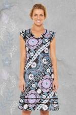Cassy Cotton Braid Dress - Quant Print