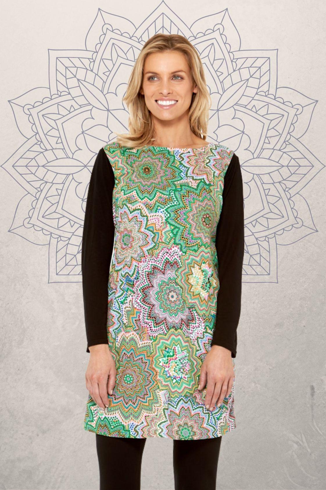 Kayla Cotton Shift Dress - Digi Print
