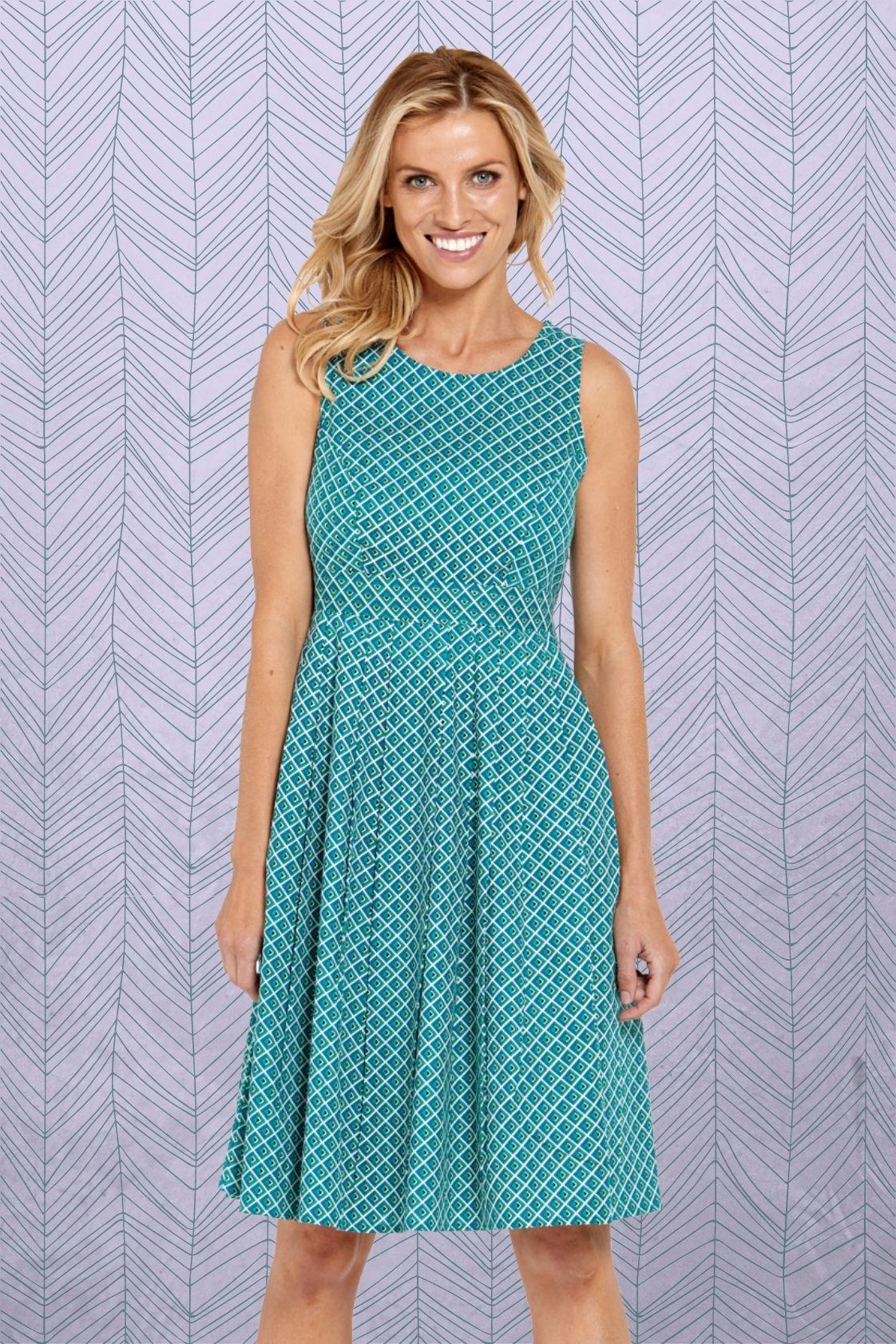 Jude Cotton 50's  A Line Dress -  Rio Print
