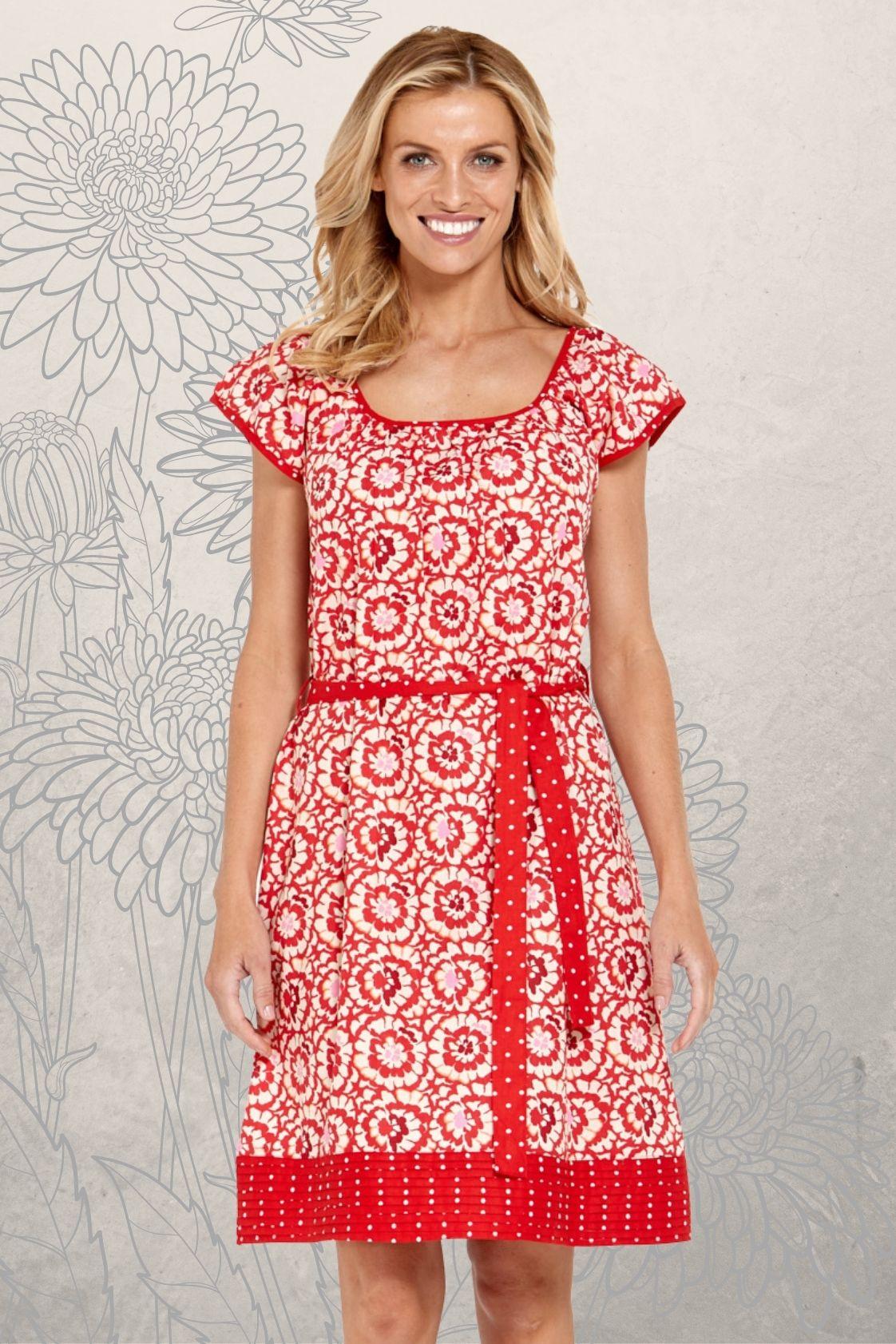 Piper Cotton Tunic Dress - Bloom  & Spot Prints