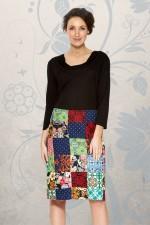 Patch Cotton skirt